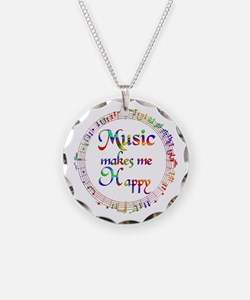 Music makes me Happy Necklace