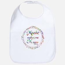 Music makes me Happy Bib