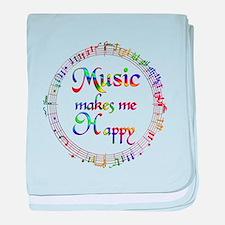 Music makes me Happy baby blanket