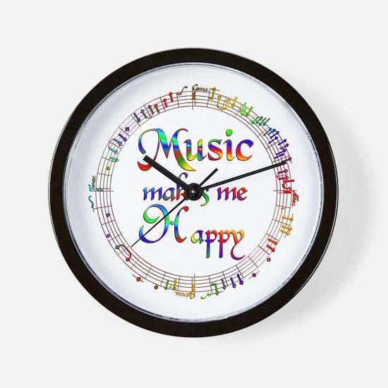 Music makes me Happy Wall Clock