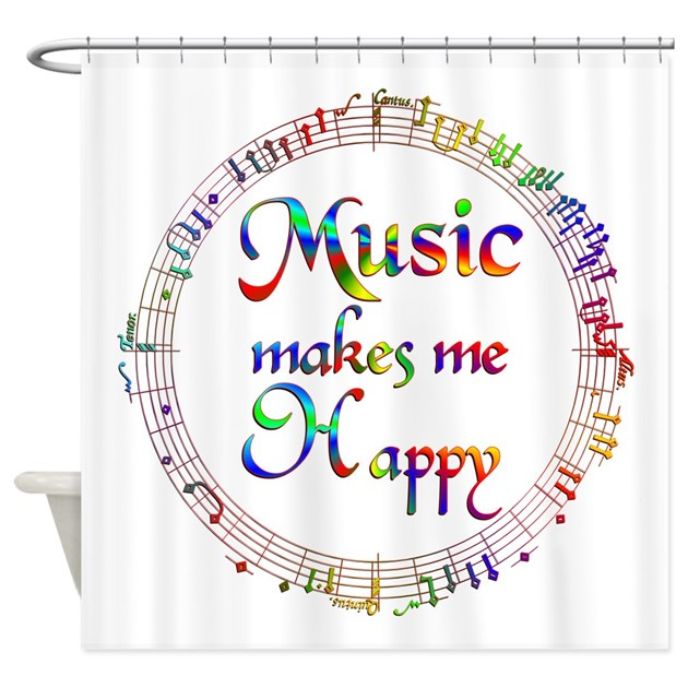 Music makes me Happy Shower Curtain by bestgiftsever