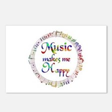 Music makes me Happy Postcards (Package of 8)