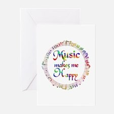 Music makes me Happy Greeting Cards (Pk of 10)