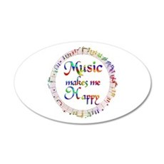 Music makes me Happy Wall Decal