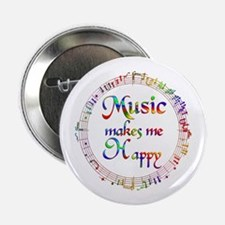 """Music makes me Happy 2.25"""" Button (10 pack)"""