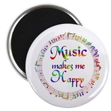 """Music makes me Happy 2.25"""" Magnet (10 pack)"""