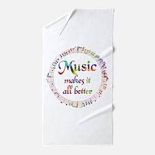 Music Makes it Better Beach Towel