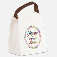 Music Makes it Better Canvas Lunch Bag