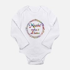 Music Makes it Better Long Sleeve Infant Bodysuit