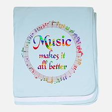 Music Makes it Better baby blanket