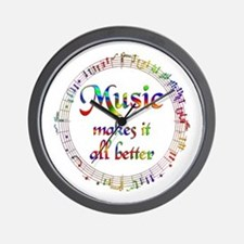 Music Makes it Better Wall Clock