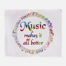 Music Makes it Better Throw Blanket