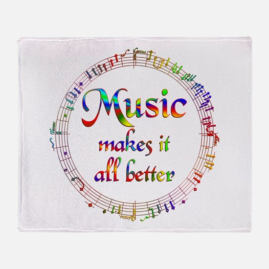 Music Makes it Better Throw Blanket