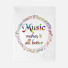 Music Makes it Better Twin Duvet