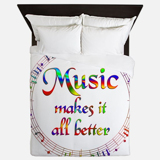 Music Makes it Better Queen Duvet