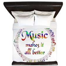 Music Makes it Better King Duvet