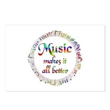 Music Makes it Better Postcards (Package of 8)