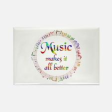 Music Makes it Better Rectangle Magnet