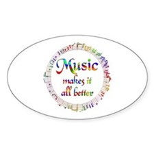 Music Makes it Better Decal
