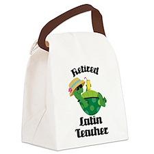 Retired Latin Teacher Canvas Lunch Bag