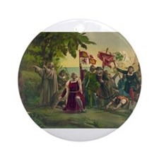 Christopher Columbus Ornament (Round)
