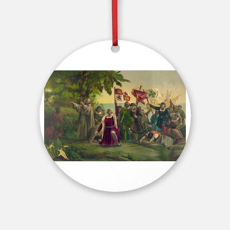 Christopher Columbus Ornament (Round)