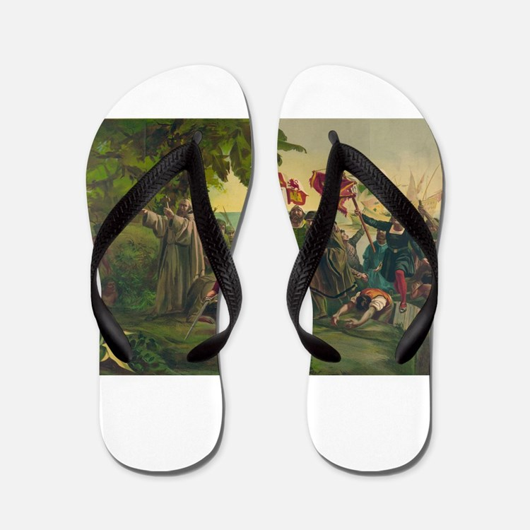 Christopher Columbus Flip Flops