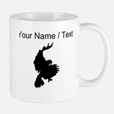 Custom Black Hawk Silhouette Mugs