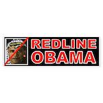 REDLINE OBAMA Bumper Sticker