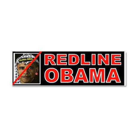 REDLINE OBAMA Car Magnet 10 x 3