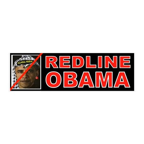 REDLINE OBAMA Wall Decal