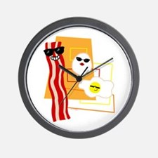 Cool Bacon and Eggs Wall Clock