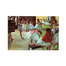Ballet School, painting by Edgar  Rectangle Magnet