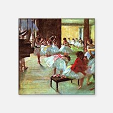 "Ballet School, painting by  Square Sticker 3"" x 3"""
