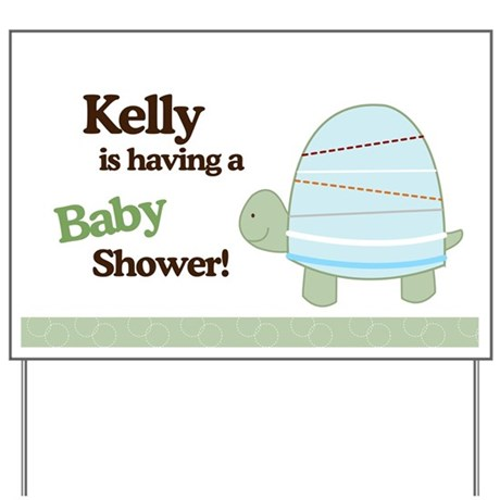Kellys Baby Shower Turtle Sign Yard Sign