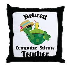 Retired Computer Science Teacher Throw Pillow