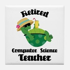 Retired Computer Science Teacher Tile Coaster