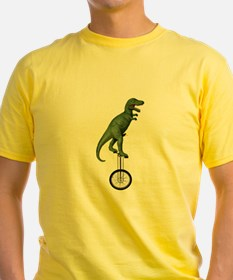T-rex Riding Unicycle T