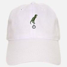 T-rex Riding Unicycle Baseball Baseball Cap