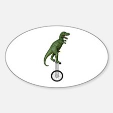 T-rex Riding Unicycle Decal