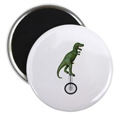"""T-rex Riding Unicycle 2.25"""" Magnet (10 pack)"""