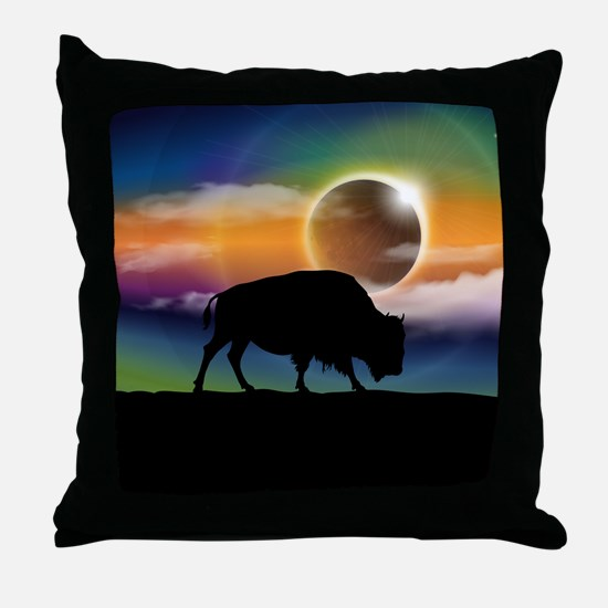 Buffalo Eclipse Throw Pillow