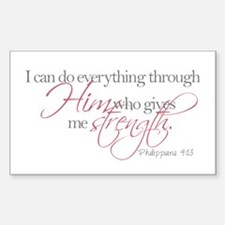 He gives me strength Bumper Stickers