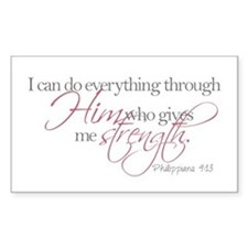 He gives me strength Decal
