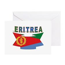 Eritrea flag ribbon Greeting Cards (Pk of 10)