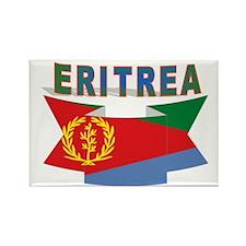 Eritrea flag ribbon Rectangle Magnet