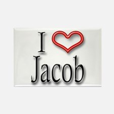 I Heart Jacob Rectangle Magnet