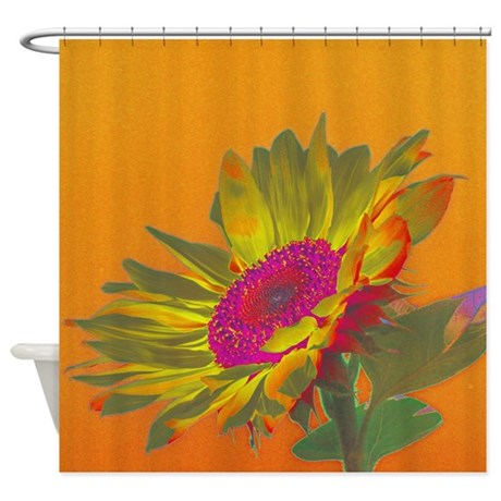 sunflower 004f shower curtain by jamfoto. Black Bedroom Furniture Sets. Home Design Ideas