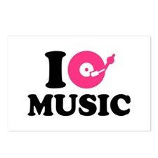 I love music DJ Postcards (Package of 8)