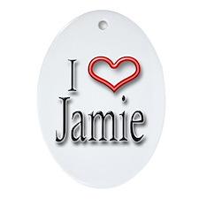 I Heart Jamie Oval Ornament